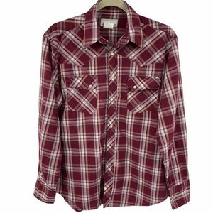 Wrangler | Wrancher Plaid Shirt with Pearl Snaps